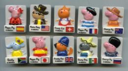 "FEVE - FEVES -  ""SERIE COMPLETE DE 10 FEVES PEPPA PIG - DRAPEAUX - DRAPEAU - Other"