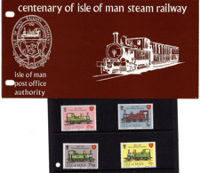 Satz Eisenbahn In Praesentationsmappe 1973 (80717) - Man (Insel)