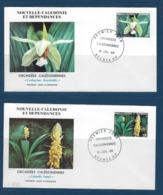 """Nle-Caledonie FDC YT 520 & 521 """" Orchidées """" Enveloppes 16.7.86 Nouméa - Briefe U. Dokumente"""