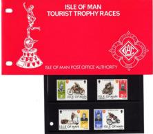Satz Tourist-Trophy-Motorradrennen In Praesentationsmappe 1974 (80718) - Isle Of Man