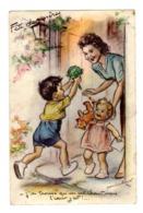 CPSM Illustrée Illustrateur Germaine Bouret Fête Des Mères J'ai Trouvé Qu'un Artichaut Mais Le Coeur Y Est éd MD - Bouret, Germaine