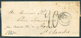 1861 France Hyeres - Marseille Roma - 1849-1876: Période Classique