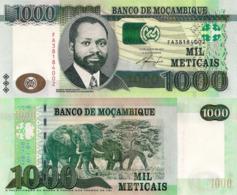 """MOZAMBIQUE 1000 Meticais, 2011, P154, UNC, """"Elephant"""" - Mozambique"""