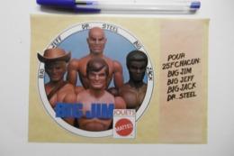 Autocollant Stickers - Jeux Jouets MATTEL : BIG JIM : BIG JEFF . DR. STEEL . BIG JACK - Autocollants