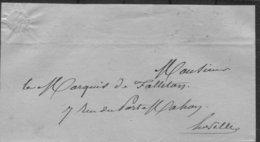 1846 France Paris Advocat - Poststempel (Briefe)