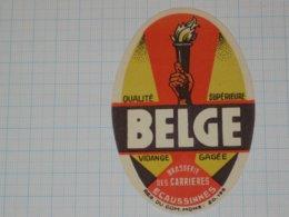 Bier Etiket BELGE Brouwerij Brasserie DE CARRIERES - Ecaussinnes - Bier