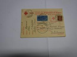 PRIGIONIERO II GUERRA  ---  CORRISPONDENZA DA AREZZO PER PORTICELLO ARKANSAS-- USA - Guerra 1939-45