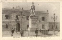 10762 Trapani - Monumento A Vittorio Emanuele II° Del Duprè - Trapani
