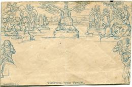 GRANDE-BRETAGNE ENVELOPPE MULREADY POSTAGE TWO PENCE - 1840 Mulready-Umschläge