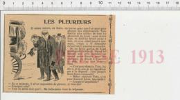 Presse 1913 Les Pleureurs Corse Tisto Le Pleureur De Lozzi Enterrement Corbillard  226MD - Vieux Papiers