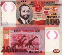 "MOZAMBIQUE 100 Meticais, 2017, P152, UNC, ""Giraffe"" New Signature - Mozambique"
