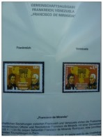 Emissioni Congiunte FRANCIA 2009, F. Miranda, Joint Issue Venezuela  2 Serie Cpl. 2v. Nuovi** - Gemeinschaftsausgaben