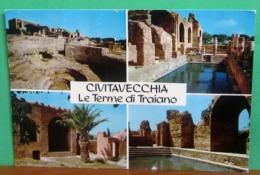 CIVITAVECCHIA Vedute Terme Di Traiano CARTOLINA Non Viaggiata - Civitavecchia