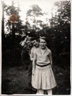 Amusante Photo Originale Portrait D'une Fratrie à La Queue Leuleu & Dégradé De Têtes Vers 1920/30 - Personnes Anonymes