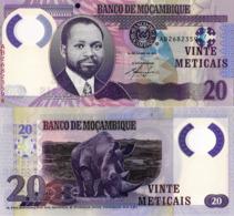 "MOZAMBIQUE 20 Meticais, 2011, P149, UNC, ""Rhino"" Polymer - Mozambique"