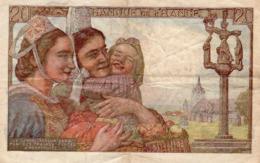 20 Fr Pecheur 9 - 2 - 1950 - 1871-1952 Antichi Franchi Circolanti Nel XX Secolo