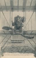 """Aviateur L. DUFOUR - Signature AUTOGRAPHE Sur CP """"Louis Dufour Sur Son Appareil Henry Farman à Son Poste De Vol """" - Aviateurs"""