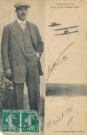 """DUVAL - Signature AUTOGRAPHE Sur CP """" L' Aviateur DUVAL St Son Biplan Caudron Frères """" LE CROTOY SOMME - Flieger"""