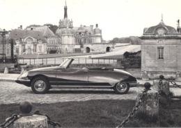 CP Voiture 3230 DS 21 Cabriolet 1968 Çhateau De Chantilly - PKW
