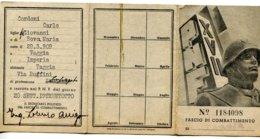 TESSERA - A.XVII-PNF-FASCIO DI COMBATTIMENTO-di TAGGIA-IMPERIA-2 SCAN- - Vecchi Documenti