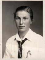 Petite Photo Originale Photos D'identité - Adolescente Des Bund Deutscher Mädel Sous Le III Reich De Eilenburg - Leipzig - Personnes Anonymes