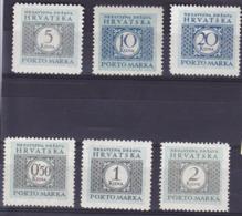 Croatie Portomarken Timbre Taxe N° 11 à 16  Année 1942 Neuf** - Croazia
