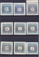 Croatie Portomarken Timbre Taxe N° 17 à 25  Année 1943/44 Neuf** - Croatie
