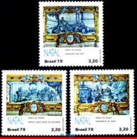 Ref. BR-1647-49 BRAZIL 1979 CHRISTMAS, NATIVITY, ADORATION OF, KINGS, RELIGION, SET MNH 3V Sc# 1647-49 - Brésil