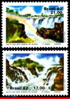 Ref. BR-1795-96 BRAZIL 1982 NATURE, SEVEN STEPS OF GUAIRA,, WATERFALLS, MI# 1895-96, NATURE, SET MNH 2V Sc# 1795-1796 - Brasilien