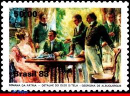 Ref. BR-1878 BRAZIL 1983 PAINTINGS, INDENPENDENCE WEEK, ART,, MI# 1994, MNH 1V Sc# 1878 - Sonstige