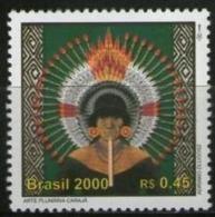Ref. BR-2740K BRAZIL 2000 HISTORY, DISCOVERY OF BRAZIL, INDIAN - MI# 3017 - MINT MNH 1V Sc# 2740K - Ongebruikt
