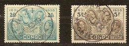 Belgisch Congo Belge 1935 OBCn° 190-191 (o) Oblitéré Cote 5,75 Euro - Belgian Congo