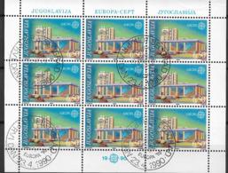 1990 Jugoslawien  Mi. 2414-5 FD-used  Europa  Postalische Einrichtungen - Europa-CEPT
