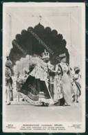 India Delhi Costumes Coronation Durbar CORNER CREASES RPPC Cartolina KB8670 - Indien