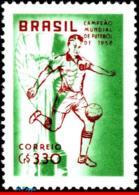 Ref. BR-887 BRAZIL 1959 FOOTBALL SOCCER, WORLD CUP CHAMPIONSHIP,, CHAMPION 1958, SPORT, MNH 1V Sc# 887 - Coupe Du Monde