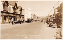 RP: PENTICTON, B.C., Canada, 1930s ; Main Street W/Capitol,Drugs/Pharmacy Store, - Penticton