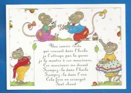 ANIMAUX - HUMOUR - SOURIS - RAT -- ILLUSTRATEUR: SOPHIE HÉON - COMPTINES - UNE SOURIS VERTE QUI COURAIT DANS L'HERBE... - Otros