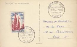 Carte Postale 1er Jour : Foire De Paris 1954   ///  REF  OCT. 19 //   N° 9941 - Lettres & Documents