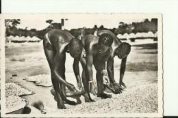 CAR26   --   OUBANGUI  ( A.E.F. )   --   SECHAGE DE LA PATE DE MANIOC  --   GIRLS  --  REAL PHOTO PC - Centraal-Afrikaanse Republiek