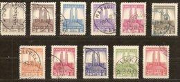 Belgisch Congo Belge 1941 OBCn° 214-224 (o) Oblitéré Cote 15 Euro Monument Albert I - Belgisch-Kongo