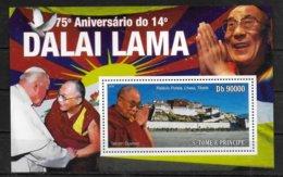 SAINT THOME ET PRINCE  BF 570 * *  ( Cote 16e )  Dalai Lama - Buddhismus