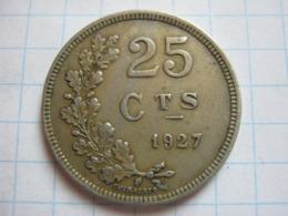 25 Centimes 1927 - Luxemburgo