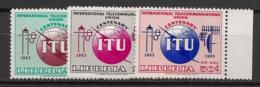 Liberia - 1965 - N°Yv. 404 à 405 + PA 148 - UIT - Neuf Luxe ** / MNH / Postfrisch - Liberia