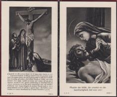 1948 Leon Raemdonck Helene Foncin Notaris Burgemeester St Sint Gillis Waas Image Mortuaire Doodsprentje Bidprentje - Images Religieuses