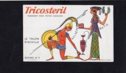 """Buvard Publicitaire / Pansement """" TRICOSTERIL  """" N° 2 ( Wallace Et Draezer - Produits Pharmaceutiques"""