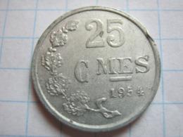 25 Centimes 1954 - Luxemburgo