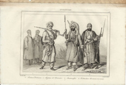 AFGHANISTAN TYPES D'AFGHANS 1835 INCISIONE DI LEMAITRE - Prints & Engravings