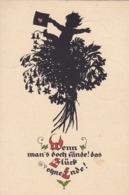 AK Wenn Man Doch Fände... - Kind Mit Karte - Blumenstrauß - Scherenschnitt - Plischke-Karte - 1929 (44201) - Scherenschnitt - Silhouette