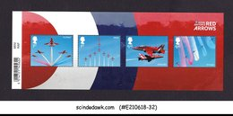 GREAT BRITAIN - 2018 ROYAL AIR FORCE RED ARROWS / AVIATION MIN/SHT MNH - Blocchi & Foglietti