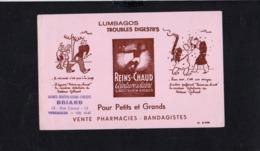 """Buvard Publicitaire / Ceinture De Laine  """" Reins Au Chaud """" Dessin Illustrateur Jo Roux ( Pub. Briand Versailles ) - Produits Pharmaceutiques"""
